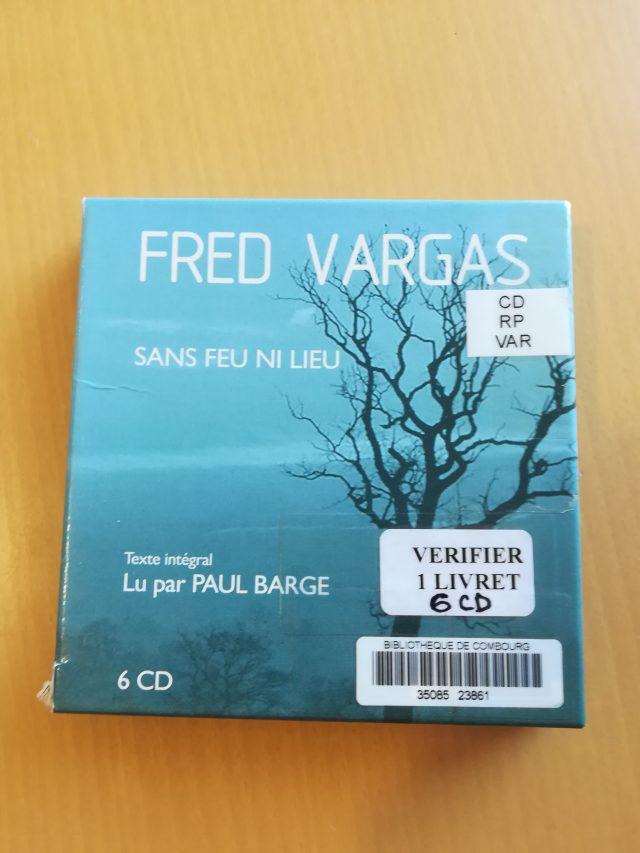 "livre Audio ""sans feu ni lieu"" de Fred Vargas"